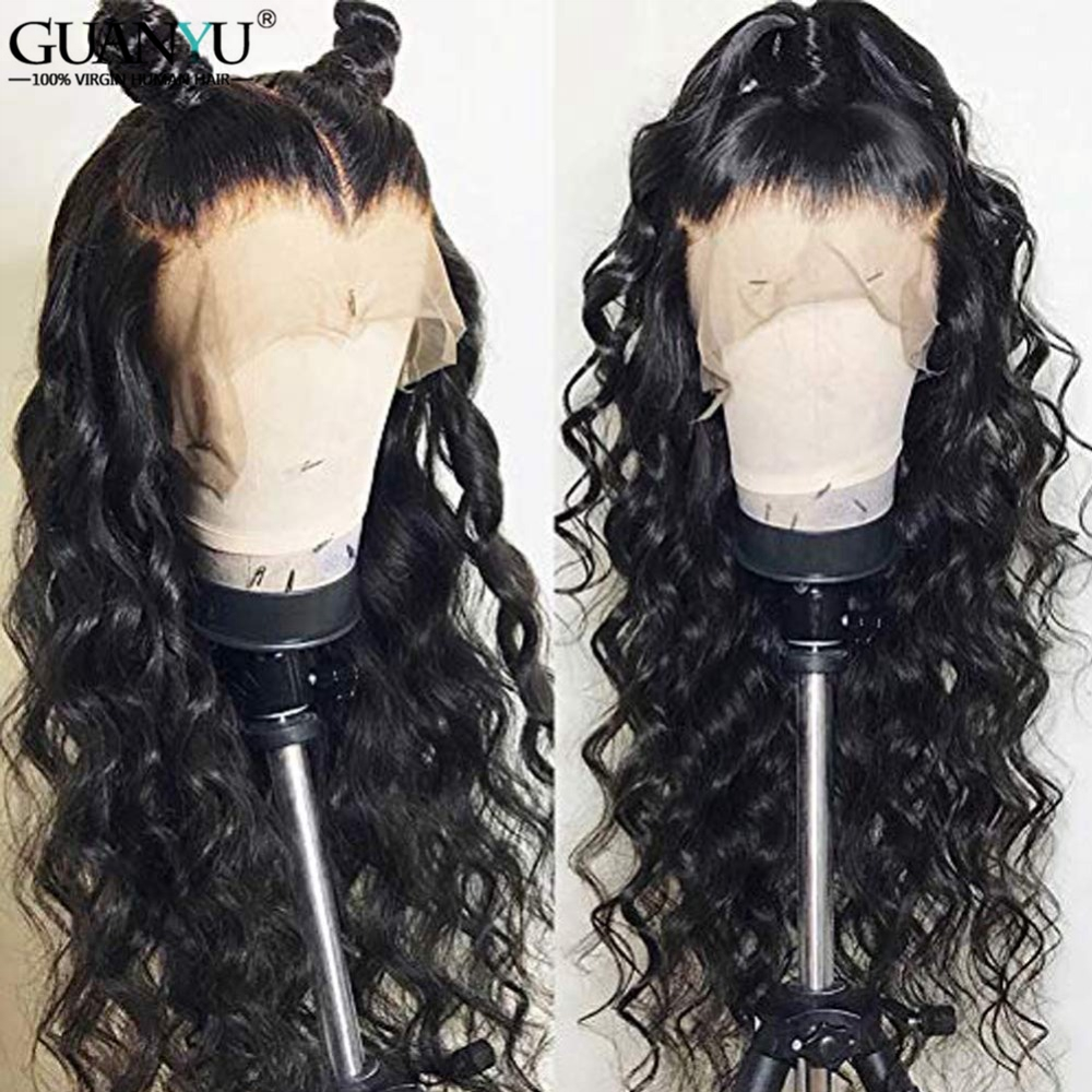Deep Wave Full Lace Wigs Human Hair 150 Density Brazilian Remy Full Lace Human Hair Wig
