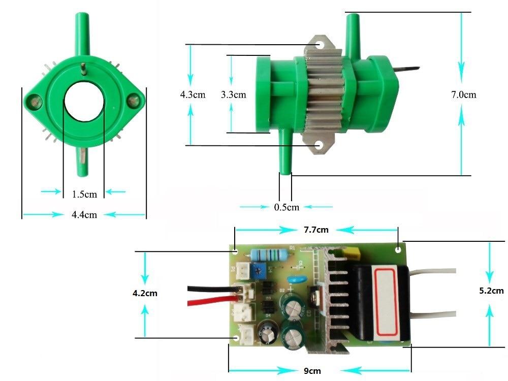 Высокая концентрация генератор озона части 500 мг/ч эмаль трубка для очиститель воздуха, бытовая техника озона части