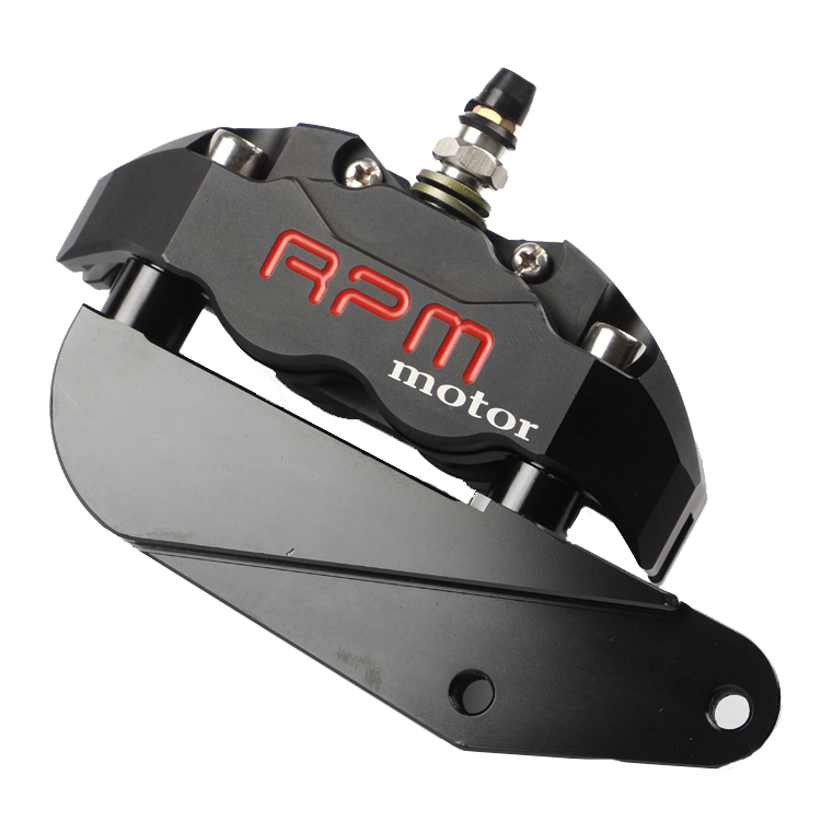 RPM motor Motorcycle Hole pitch 82mm Brake Calipers with Adapter Bracket For 220mm Disc Brake Pump knight / Hussars Flat Fork