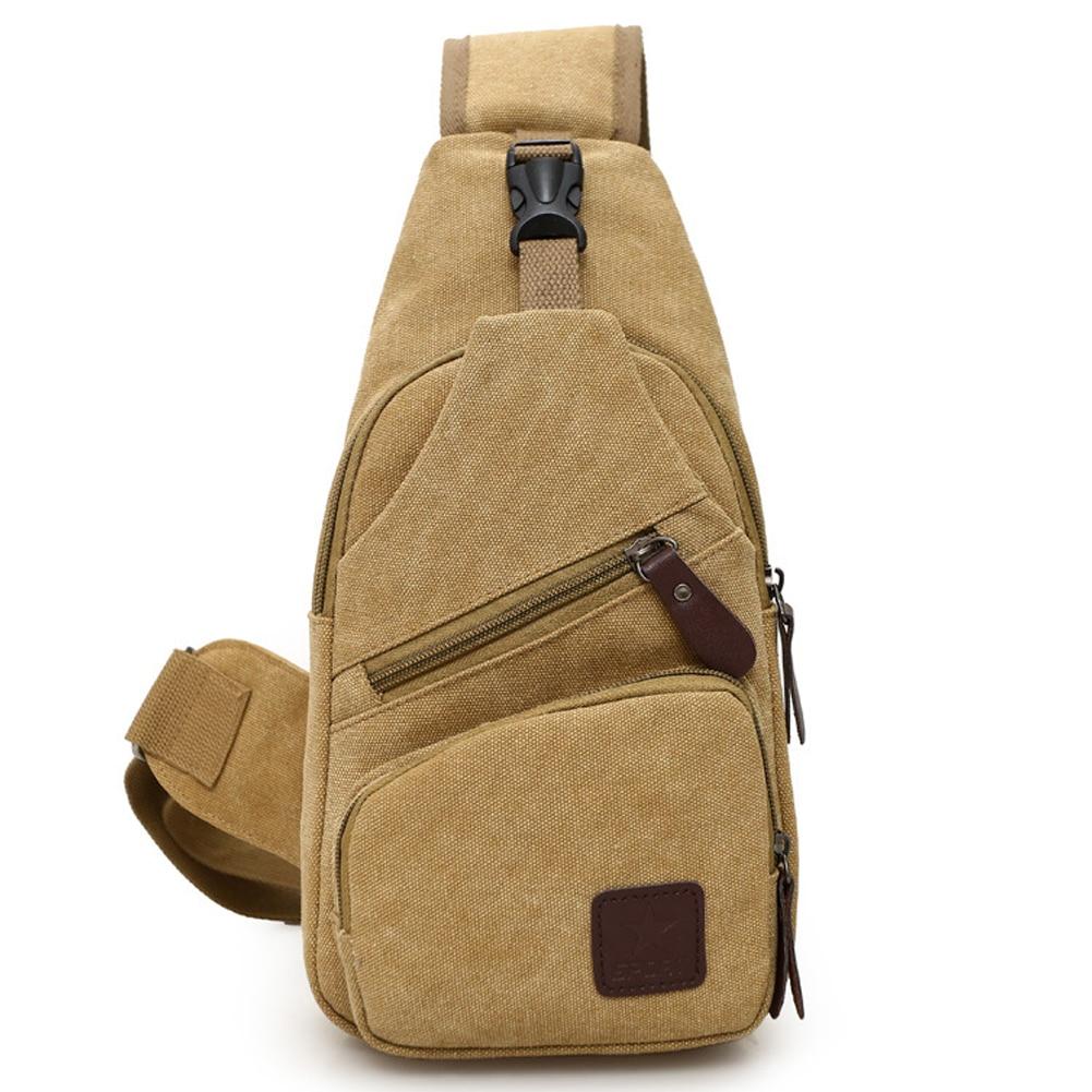 Adjustable Strap Canvas Gym Daily Gift Crossbody Travel Sports Lightweight Zipper Closure Wear Resistant Men Outdoor Chest Bag