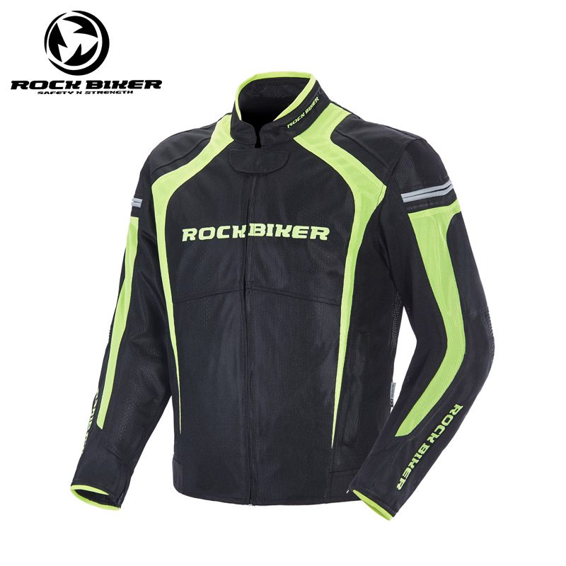 ROCK BIKER Reflective Motorcycle Jackets Men Racing Armor Moto Bike Riding Motocross Clothes Protective Gear Armor free shipping 1pcs new men motorcycle moto bike jacket pu leather racing suits armor riding clothes with 5pcs pads