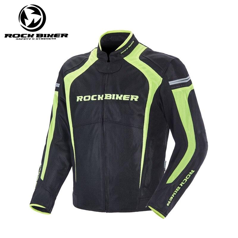 ROCK BIKER veste de Moto réfléchissante hommes armure de course Moto vélo équitation Motocross vêtements équipement de protection armure