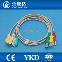 ECG monitor Cable,3lead ECG Leadwires with IEC,Clip for SPACELABS