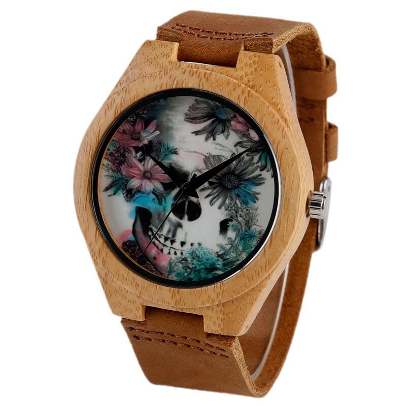 Quartz Madera Bamboe Natuur Hout Horloges Lederen Band Band Mode - Herenhorloges - Foto 2