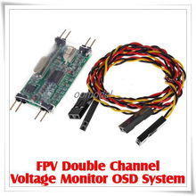 FPV Monitor OSD System Double Channel Voltage Free Track Shi