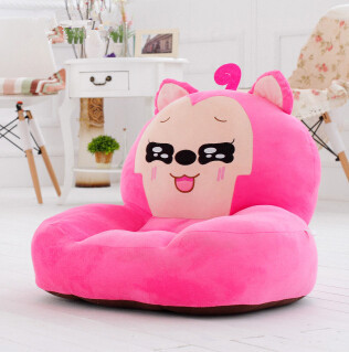 cute furniture super cute cartoon children plush single sofa washable beanbag wholsale soft