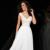 Simples A linha da luva do tampão decote em V branco lantejoula longa noite vestidos de 2016 ocasião especial Vestido de festa Vestido de festa