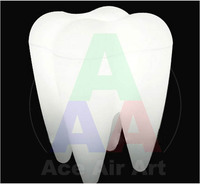 8ft tall Attractive Advertising Led Inflatable Tooth Balloon With Colors Changing Light