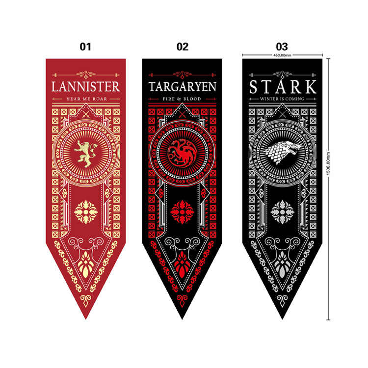 Kostuum Props Game Of Thrones Banner Vlag Stark Tully Targaryen Lannister Winter Komt Fire Blood Home Decor Vlag