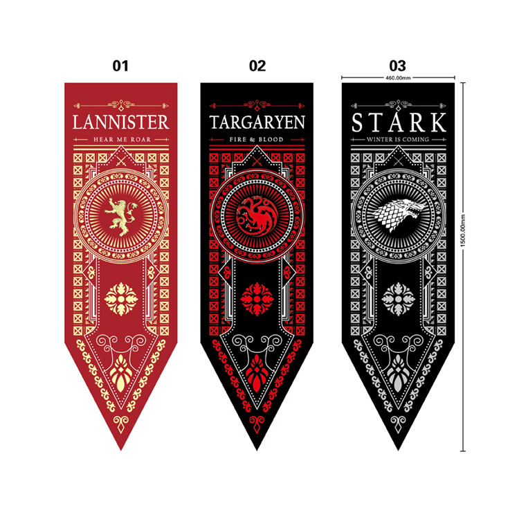 Costume Props Game Of Thrones Banner Flag Stark Tully Targaryen Lannister Winter Is Coming Fire Blood Home Decor Flag