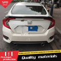 For Honda Civic Spoiler High Quality ABS Material Car Rear Wing Primer Color Rear Spoiler For Honda Civic Spoiler RS 2016