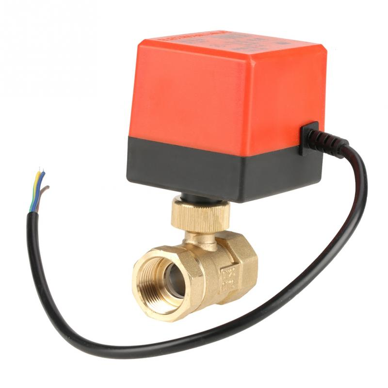 Dc 24 V G3/4 dn20 2 Weg Messing Motorisierte Antrieb Ball Ventil Für Klimaanlage Mit Kabel Ventil Heimwerker