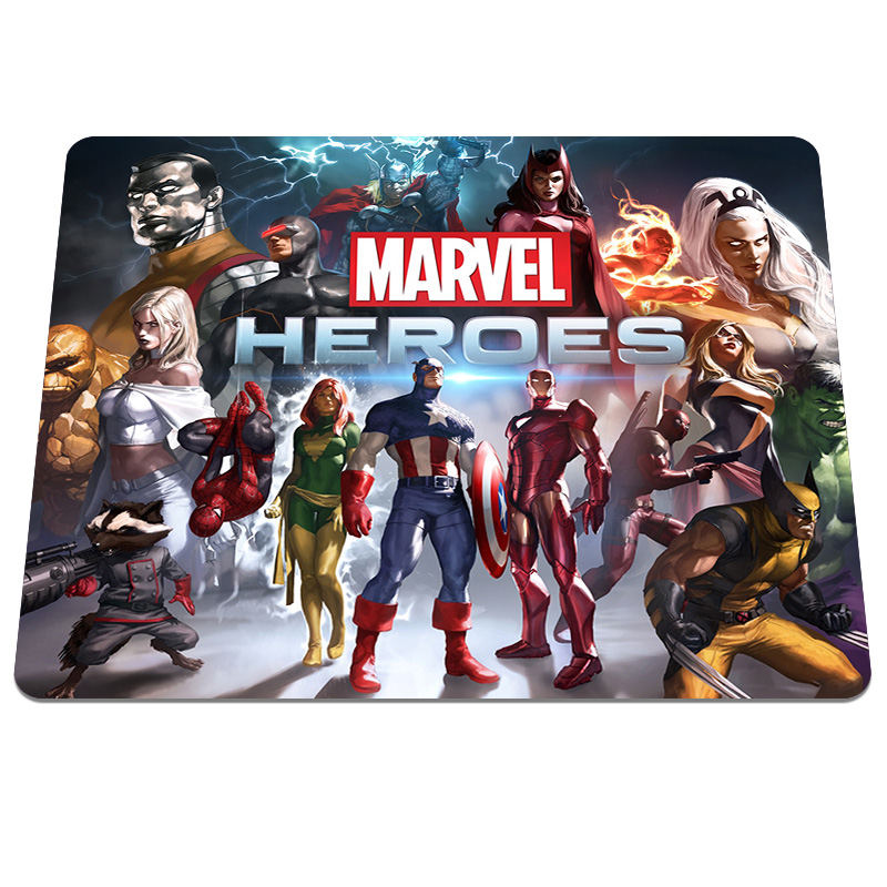 Hot Sale Marvel Heroes Printing Rubber Mouse Pad PC Computer Gaming Mouse Pads Anti slip Optical