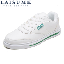 2019 LAISUMK New Spring Summer Men Casual Shoes Fashion Leather Men Loafers Lace-up Men's Flat Shoes Breathable Sneakers цена 2017