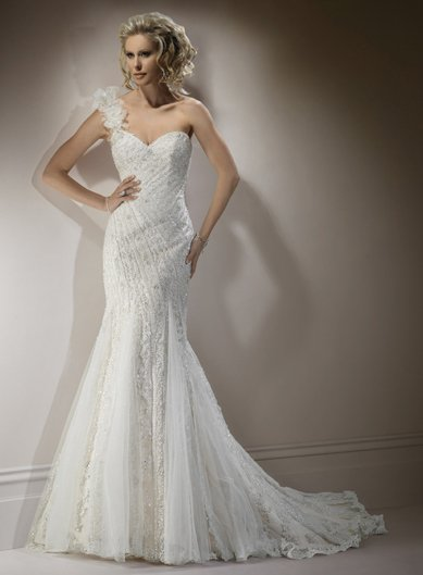 Lace white chiffon sheath wedding dress 2012 bridal gowns for Plus size sheath wedding dress