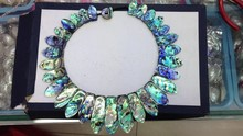 20*30-20*50 mm Paua Abalone Shell Necklace   free shipment