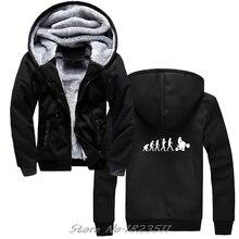 Moletom com capuz grosso masculino evolução do quadrilátero hoodie quading fora da estrada ciclismo afligido hoodies hip hop com capuz casacos