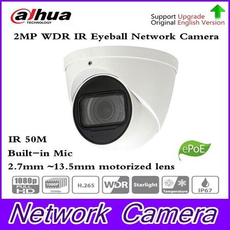 Starlight 2.7mm ~13.5mm motorized lens 2MP WDR IR Eyeball Network Camera IPC-HDW5231R-Z upgrade IPC-HDW5231R-ZE ,free shipping free shipping dahua security ip camera cctv 2mp wdr ir eyeball network camera with poe ip67 without logo ipc hdw5231r z