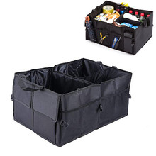Organizador de almacenamiento de maletero portátil con múltiples compartimentos 600D Oxford, soportes interiores de remolque, bolsas de almacenamiento plegables para coche