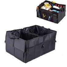 แบบพกพาหลายช่อง Trunk Storage Organizer 600D Oxford การจัดเก็บภายในผู้ถือรถพับเก็บกระเป๋า