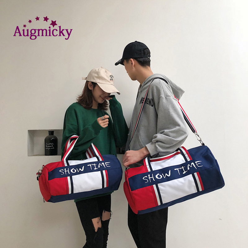 Image 2 - Dry and wet separation Fitness bag Cylinder waterproof Travel portable sports bags sport bolsa tassen tas gym Shoulder Handbag-in Laptop Bags & Cases from Computer & Office
