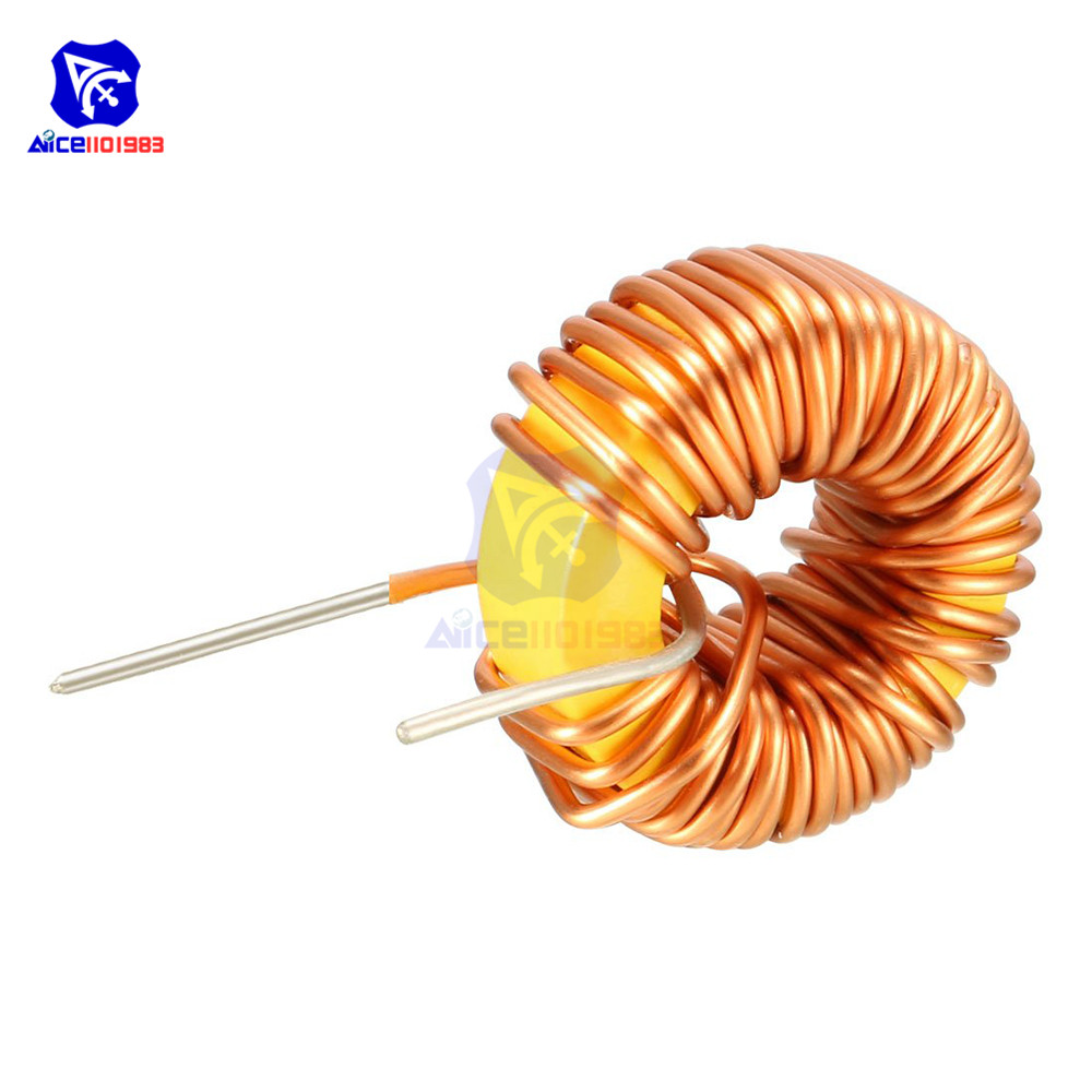 <font><b>100</b></font>μH 3A Coil Wire Wrap Toroid Magnetic Inductor Monolayer Wire Wind Wound Inductance Coil for Arduino LM2596 image
