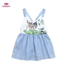 MUQGEW Summer 2018 Baby Girl Dress Children's First Birthday Party Dresses Newborn Sleeveless Cotton blend Cartoon Clothes