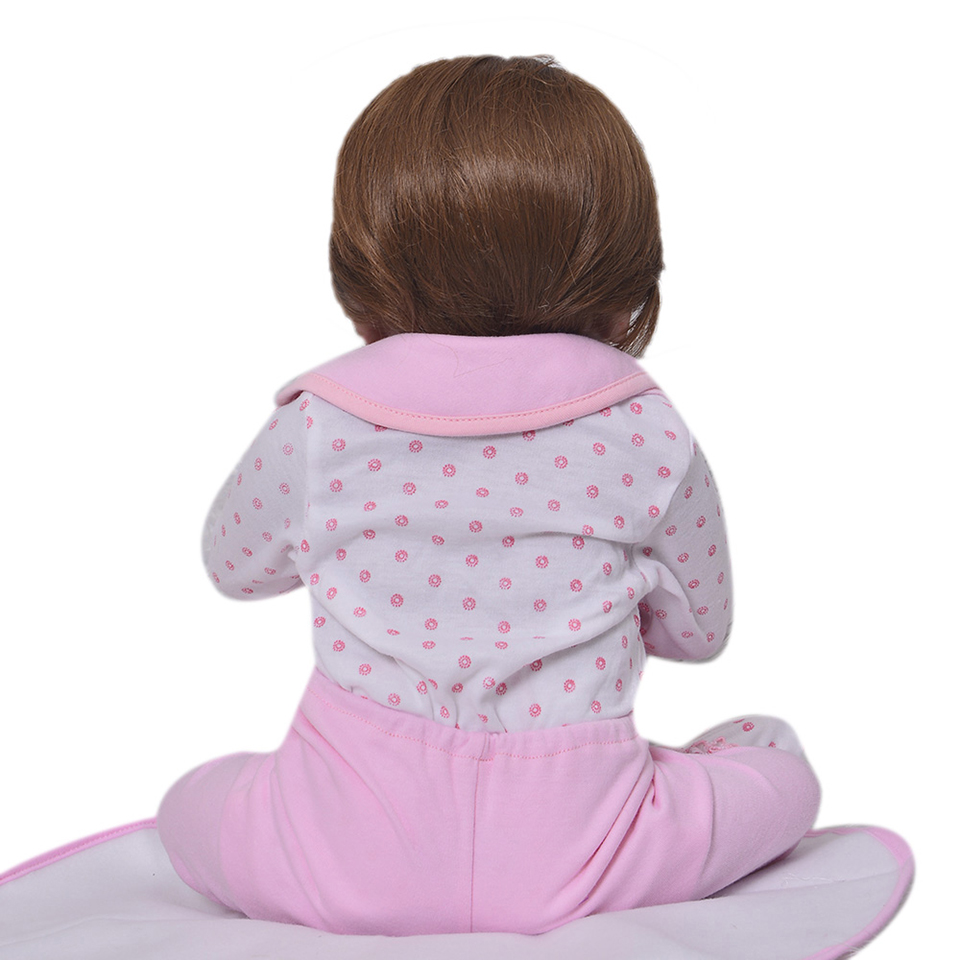 Image 5 - Lifelike Silicone Reborn Baby Menina  23'' Newborn Baby Dolls Full Vinyl body Wear bebe Infant Clothes Truly Kids Playmates-in Dolls from Toys & Hobbies