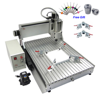 Assembled 3 axis cnc router 6090 with 1.5kw spindle, engraver for metal wood acrylic