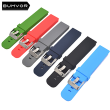 Silicone strap 18mm 20mm 22mm watch accessories sports