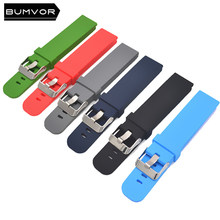 Silicone strap 18mm 20mm 22mm watch accessories sports watch with silicone strap fitness Samsung Huawei motorcycle smart strap w(China)