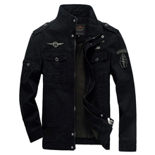 Men Jacket Winter Military Army Bomber Jackets Jaqueta Masculina Plus Size 6XL Coat Mens Denim Jacket for Aeronautica Militare(China)