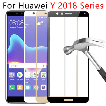 Protective Glass For Huawei Y5 Y6 Y7 Prime 2018 Y9 Tempered Glas Safety Phone Screen Protector On Y 9 5 6 7 Y52018 Y62018 Tremp image