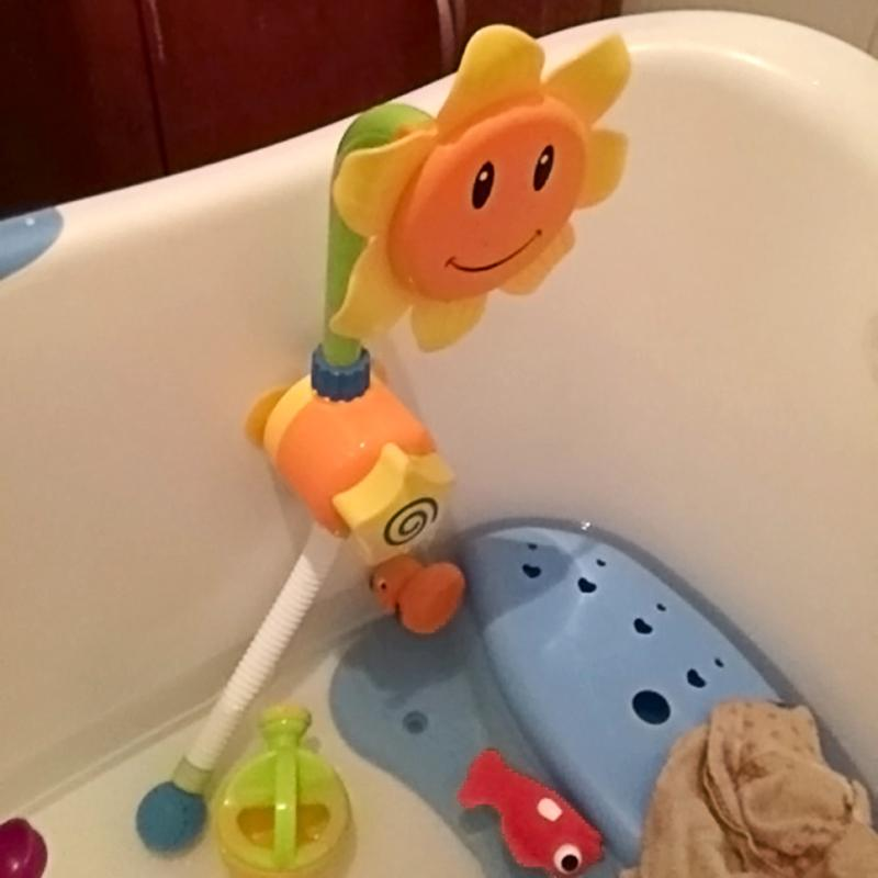Baby Bath Toy Sunflower Bathroom Sunflower Shower Faucet toy in the bathtub Children Pool Swimming Toys kid Learning Toy Gifts