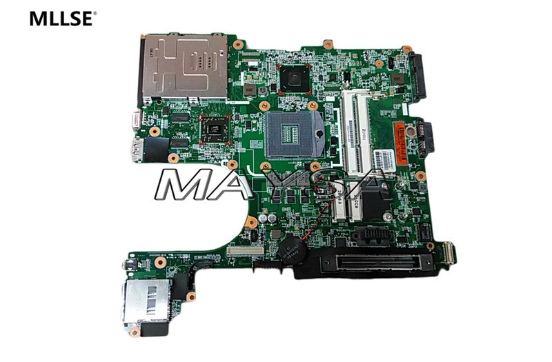 684323-001 Main Board Fit For HP Elitebook 8560P Laptop Motherboard QM67 DDR3 WITH HD7400M Video Card 645386 001 laptop motherboard for hp dv7 6000 notebook pc system board main board ddr3 socket fs1 with gpu
