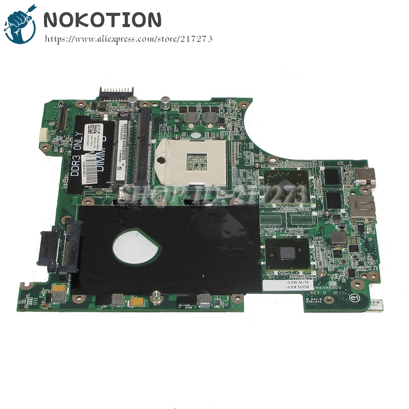 NOKOTION DAUM8AMB8D0 CN-0CG4C1 0CG4C1 CG4C1 Laptop Motherboard For dell Inspiron 14r N4010 MainBoard HM57 HD5470 1G nokotion ru477 cn 0ru477 laptop motherboard for dell xps m1530 geforce 8400m update graphics mainboard