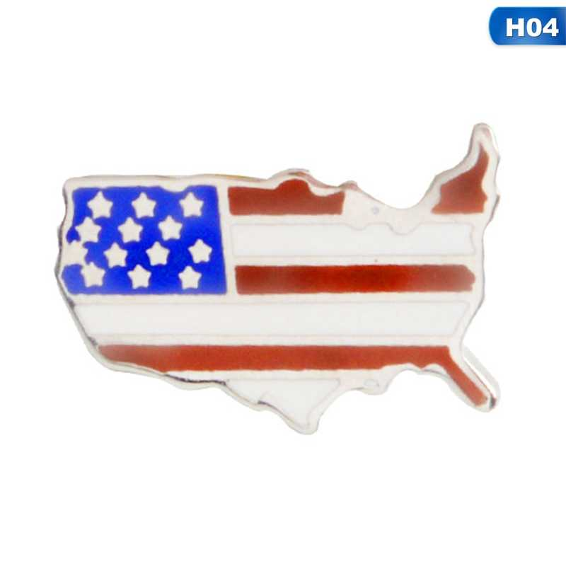 National Flags Enamel Pin Canadian American German Italian Flag Brooch Pin  Button Hat Bag Clothes Collar Pin Badge Jewelry Gift