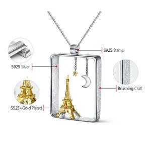Image 5 - לוטוס כיף אמיתי 925 כסף סטרלינג בעבודת יד תכשיטים אייפל מגדל עיצוב תליון ללא שרשרת Acessorios עבור נשים