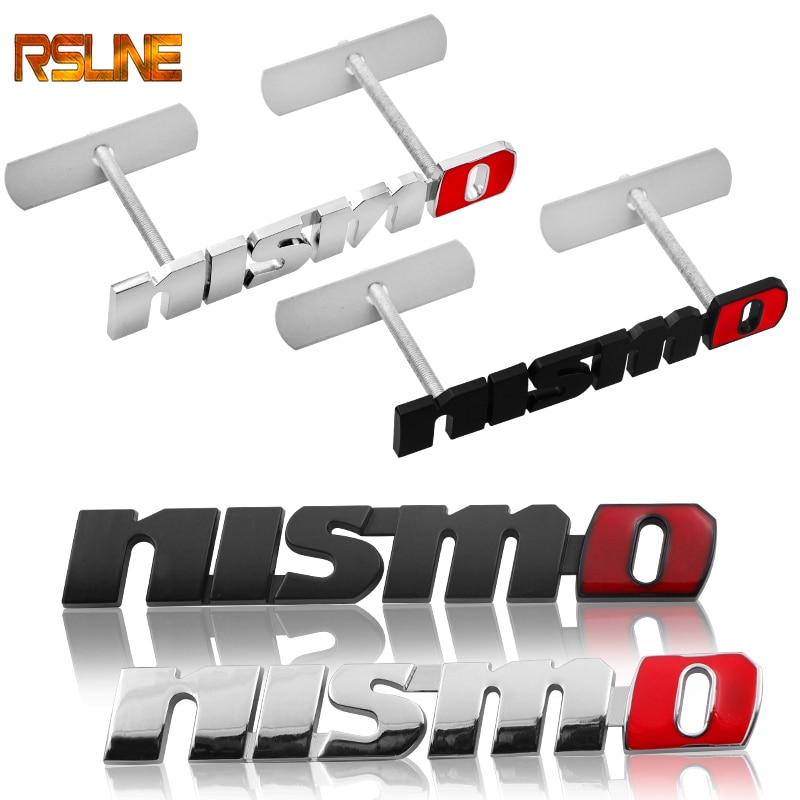 Metal NISMO Auto Car Stickers Front Grille Badge Emblem Car Styling For Nissan Tiida Teana Skyline Juke X-trail Almera Qashqai