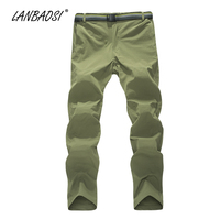 LANBAOSI Fishing Pants for Men Sun UV Protection Quick Dry Trekking Traveling Trousers Male Water Resistant Outdoor Sports Pant