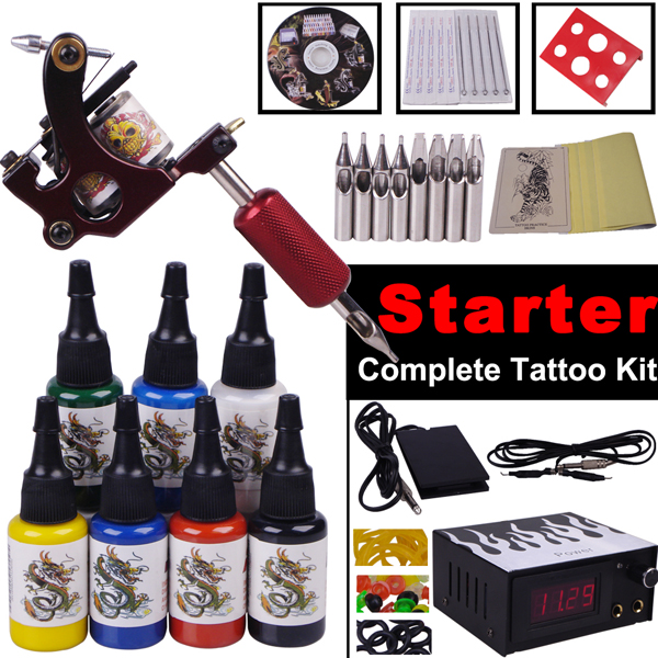 tattoo supplies cheap permanent makeup gun kit body art steel body ...