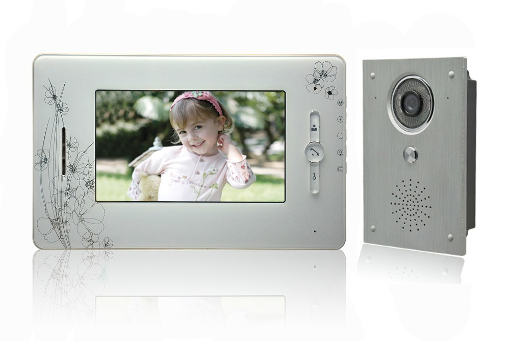 7 Inch LCD Display 600TVL Metal Oudoor Camera Night Vision Video Door Phone