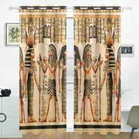 Vintage Egypt Art Curtains Drapes Panels Darkening Blackout Grommet Room Divider For Patio Window Sliding Glass