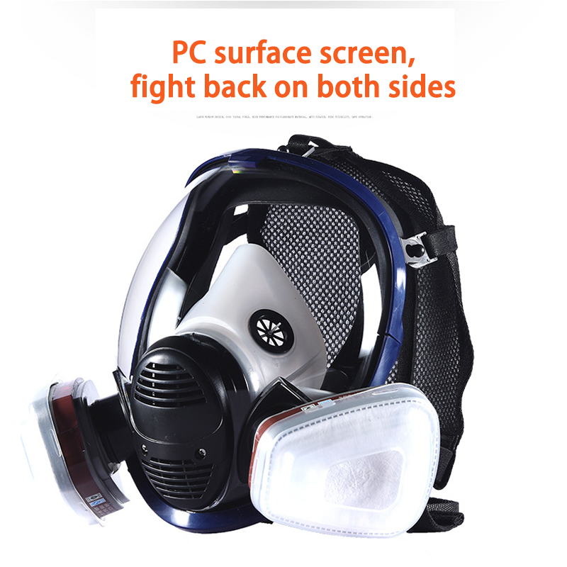 Festive & Party Supplies Disciplined Breathable Full Face Facepiece Respirator Head-mounted Painting Spraying Safety Respirator Gas Mask For Housewarming Party Mask Selected Material Party Masks