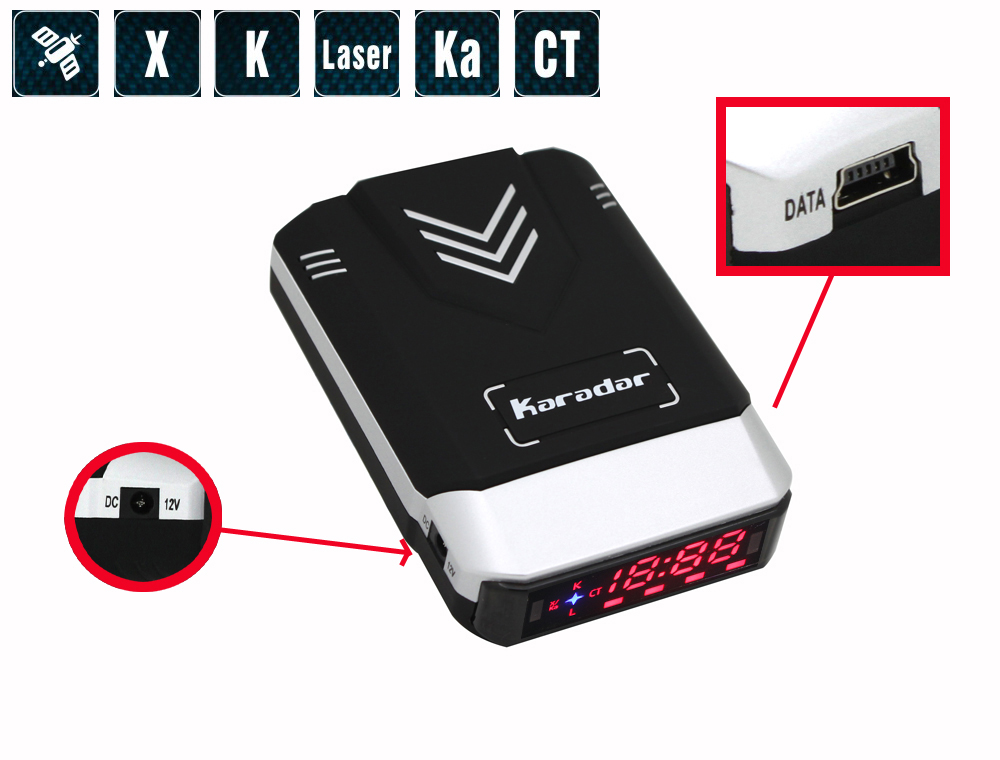Karadar Auto-detector G-700STR GPS Per Auto Combinato Strelka Vocali Strelka Radar Detector Anti Radar Laser Auto-Detector Russo