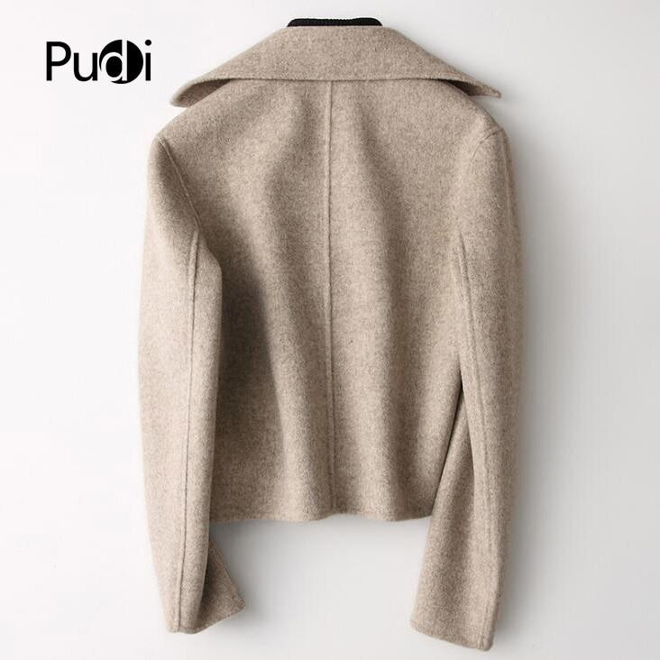 Couleur Dame Loisirs Hiver 2018 Style Manteau Court Ro18049 Veste Femmes Avec Solide Long Automne Pudi New Poche Laine pgazqnwF