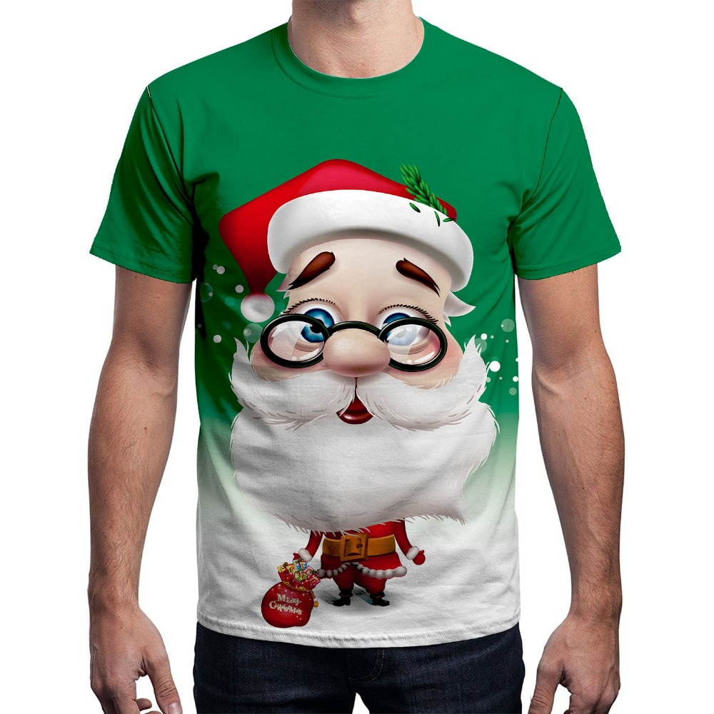 3D Christmas Print   T  -  shirt   Men Women 2018 Fashion Santa Claus Tee   Shirt   Homme Harajuku Hip Hop Xmas Short Sleeve   T     Shirt   for Men