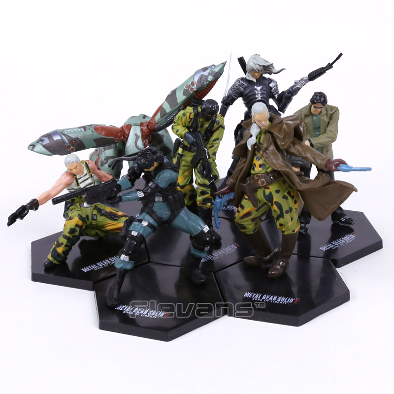 METAL GEAR SOLID 2 SONS OF LIBERTY Solid Snake Raiden Figures Collectible Model Toys 7pcs set