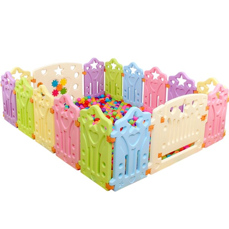 12 pièces bébé 14 pièces bébé clôture de jeu en plastique coloré sans odeur bébé activité garde de sécurité