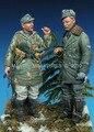 Os Kits de resina 1/35 SS Alemão set-Europa 1944-45 soldados Resina Modelo DIY BRINQUEDOS SEGUNDA GUERRA MUNDIAL WW2